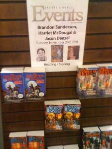 Sacramento book signing WoT poster