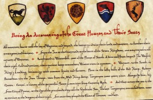 Game of Thrones letter