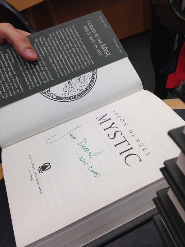 Signed copy of Mystic