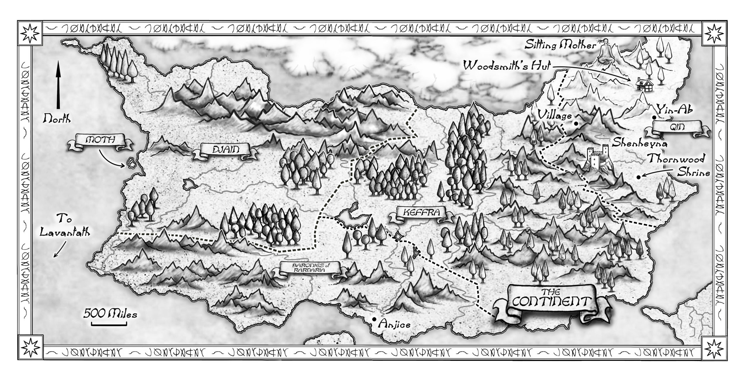The Continent map